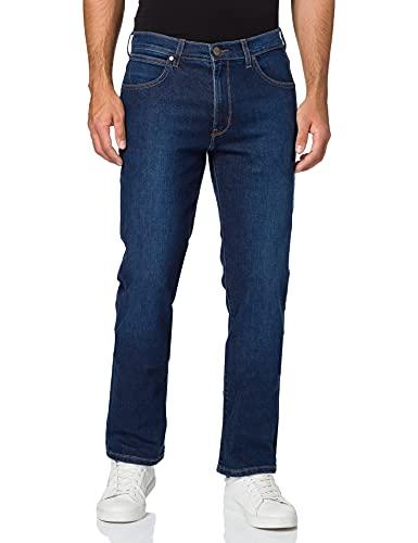 Wrangler Męskie dżinsy Arizona Straight, niebieski (Soft Edge), 30W x 34L