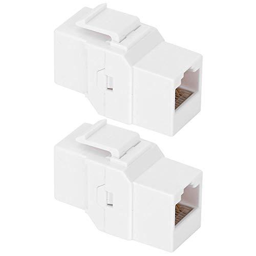 Módulo CAT6 2 Piezas, Acoplador Adaptador Ethernet Cable de