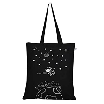 EcoRight Cotton Canvas Tote bag for Women, Reusable Grocery Bag, Printed Cute Bags, Shopping bag, Beach bags, Gift bags, Bridesmaids Tote Bags, Book Bag   Houston   0102B01
