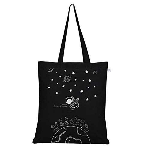 EcoRight Canvas Tote bag for Women, Reusable Grocery Bag, Cute Bags, Printed Cotton Shopping bag, Beach bags, Gift bags, Bridesmaids Tote Bags, Book Bag | Houston | 0102B01