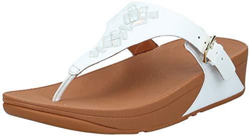 FitFlop The Skinny Toe-Thong Sandales pour femme en cristal, blanc, 10 m US