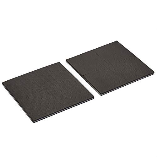 Amazon Basics - Almohadillas de goma para muebles, de 10 x 10 x 0.95cm, color negro, 8unidades