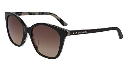 Calvin Klein Women's CK19505S Sunglasses, DARK BROWN, 5418