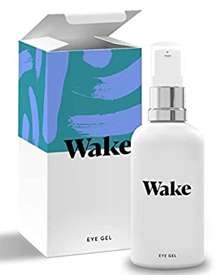 Wake Skincare Eye Gel - Hydrating Eye Serum for Puffy Eyes, Dark Circles, Eye Bags, Crows Feet and Wrinkles - Vitamin E - Collagen - 30ml Anti Ageing Eye Cream