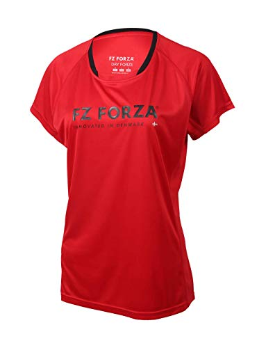 FZ Forza Blingley Damen Badminton/Squash-T-Shirt, Größe M, Blau, rot, Größe S