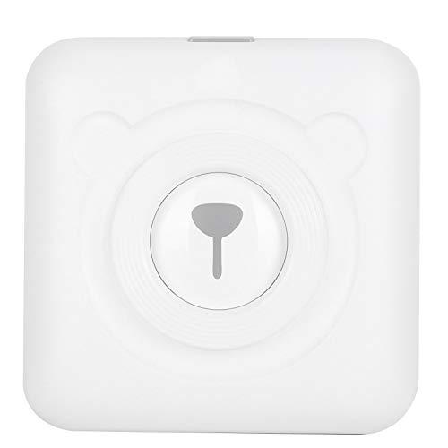 con cable USB Mini Pocket Wireless BT Thermal Printer, A6 White 304dpi...