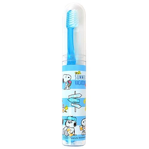 歯ブラシセット 子供 スヌーピー 歯磨きセット かわいい 女の子 SNOOPY 小学生 保育園 幼稚園 ケース付 スティック歯ブラシ お泊まり
