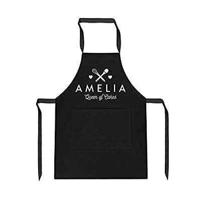 Personalised 'Name' Queen Of Cakes Apron - Quirky Baking Gifts - Open for Christmas