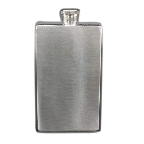 Trendy huishouden Heavy Duty Hip Flask 7 Ounce Rechthoekig Rechthoekig Roestvrij Staal Prachtige Metalen Fles Buiten Draagbare Kleine Fles Russisch Wit Kruik Flask voor Whiskey/Vodka/Wijn/Alcohol