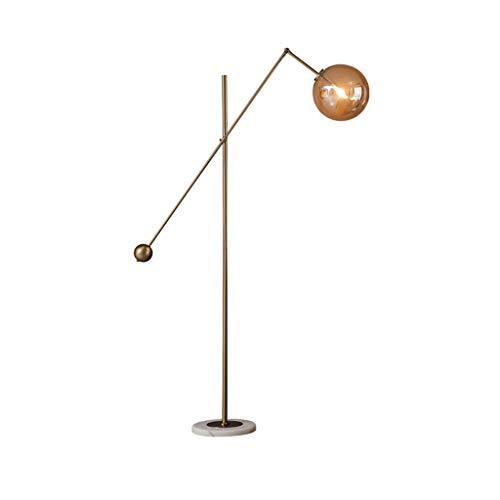 & Daglicht staande lamp glazen bol lampshade woonkamersofa kunst decoratieve lamp op bed slaapkamer marmeren vloerlamp LED voetschakelaar staande lamp
