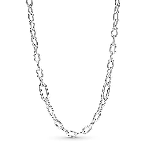 Pandora ME Link Chain 399685C00-50 - Collar de plata de ley, 50 cm, compatible con pulseras Pandora ME
