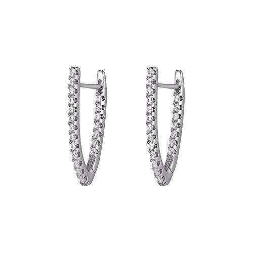ZXAOYUAN Pendientes Largos De Diamantes De Moda Pendientes De Diosa De Temperamento Creativo Joyería Personalizada De Moda para Mujeres Europeas Y Americanas Silver