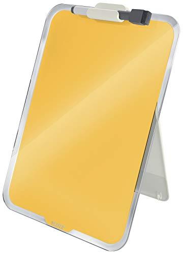 Leitz Portabloccoda scrivania in vetro cancellabile a secco, Gamma Cosy, Giallo Caldo, 39470019