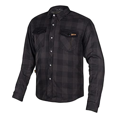 BROGER Alaska Hemd 100% Baumwolle Für Motorrad und Freizeitgebrauch Aramid DuPont Kevlar Futter Ellbogen Schulterschutz CE-zertifiziert Normale Passform