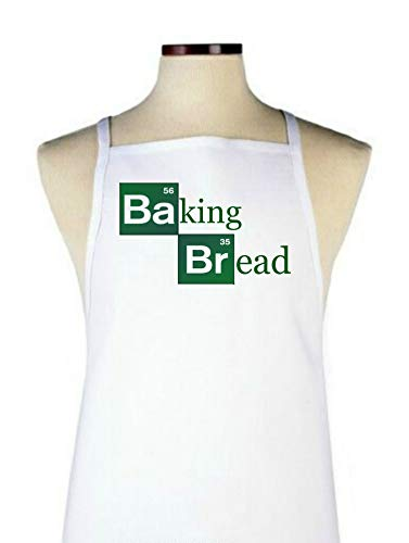 Baking Bread Apron, Looks Like Breaking Bad Show, One Size fits Most, Gift idea for Men, Women, Holidays, Cooks Chef, Bakers