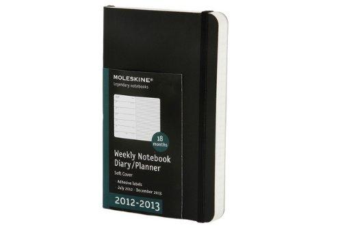 Moleskine Pocket Weekly Notebook 18 Months 2012/2013: Wochenkalender-Notizbuch Juli 2012 - Dezember 2013 (Moleskine Legendary Notebooks (Calendars)) (Moleskine Diaries)