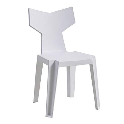 Dining Chair Silla de escritorio hermosa, simple, respaldo creativo, silla de ocio, para adultos caseros fuertes (color: blanco)
