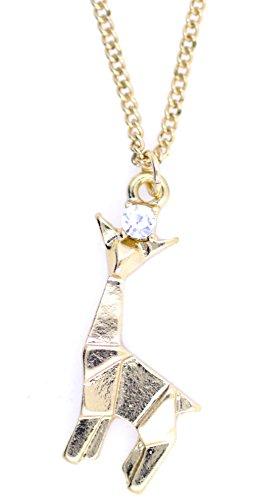 Lizzyoftheflowers–Super Cute Origami jirafa collar de oro, Looks like un papel jirafa...