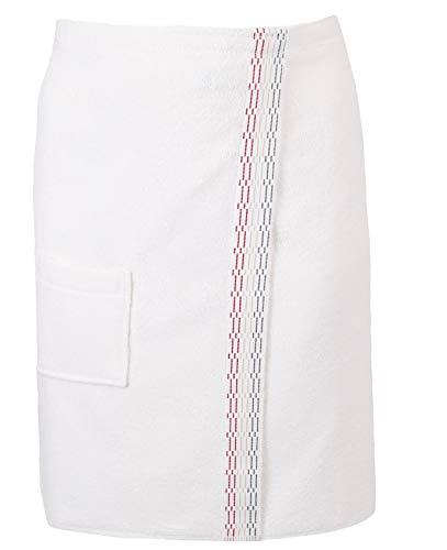 Betz Toalla Sauna para Hombres 100% algodón con Velcro Color Crema