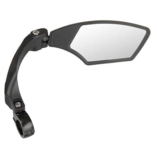 M-Wave Spy Space, Verstellbarer Fahrradspiegel, Rückspiegel für Trekking, Cityrad, E-Bike, blendfreies Glas für 22,2mm Lenker, schwarz, rechts