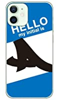 [iPhone 12 mini/Apple専用] Coverfull スマートフォンケース Cf LTD ハローイニシャル A ブルー (クリア) 3AP2MN-PCCL-152-MC71