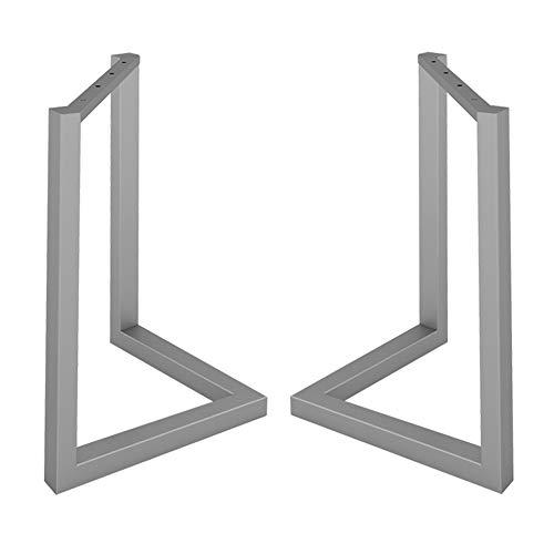 QXXXQ eettafelpoten van metaal 2 × meubelvoet knutselen voeten voor tafel robuust smeedijzer duurzaam roestvrij 40/50/60/70 cm goud/zwart/zilver
