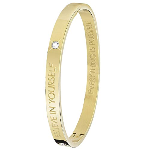 Guess - Bangle-Stahlarmband Text,Believe