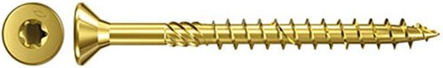 Fischer Power-Fast, 4 x 60, verzonken kop TG TX, galvanisch verzinkt, geel, 653516, 500 stuks