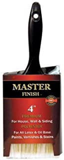 Master Finish 4 Premium Polyester Paint Brush for House Wall & Siding Latex & Oil Base Paints