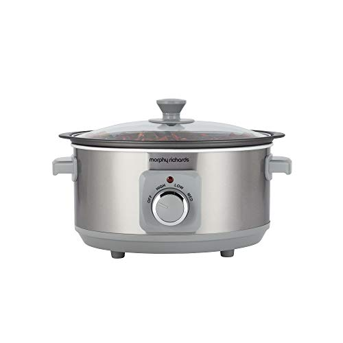 Morphy Richards 460018 Sear & Stew 3.5 Litre Aluminium Slow Cooker, One-Pot Solution