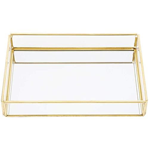 Growcolor Glas Terrarium Box - Vintage Metall Glas Aufbewahrungsbox Schmuck Kosmetik FüR Wohnzimmer, Schminktisch, Schlafzimmer Dekoration Lagerung