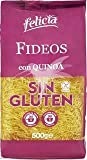 Felicia - Fideos con Quinoa - Pasta de Harina de MAiz - Arroz y Quinoa - Sin Gluten - 500 Gramos