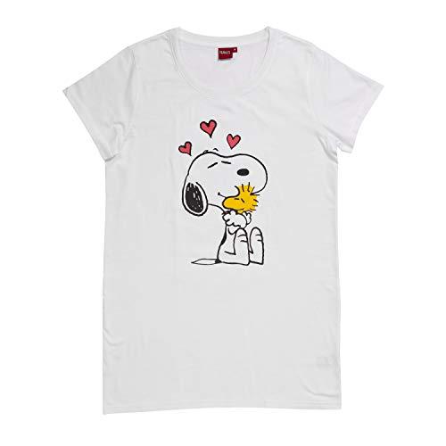 United Labels Snoopy Nachthemd Damen Schlafshirt, Frauen Pyjama Peanuts (Large)