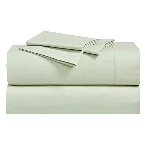 Royal Hotel Abripedic Crispy Percale Pillowcases, 300-Thread-Count, 2PC Solid Pillow Cases Set, 100% Cotton, Standard, Celery
