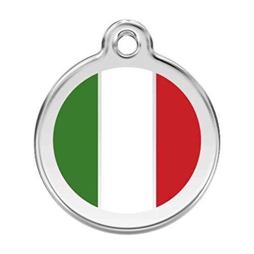 Rode Dingo Italiaanse vlag huisdier ID tag