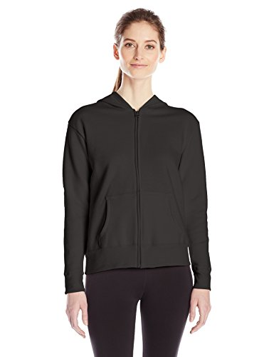 Hanes Women's Full Zip Hood, Ebony, 2X Large