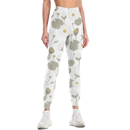 QTJY Pantalones de Yoga elásticos Delgados para Mujer, Pantalones de Yoga de Cintura Alta, Entrenamiento de Celulitis, Pantalones Deportivos para Correr al Aire Libre F M