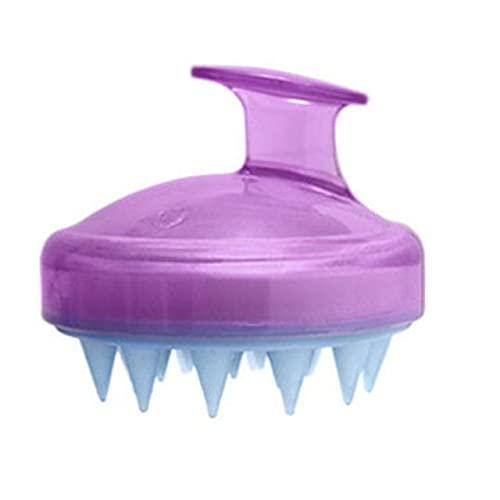 e Cepillo para champú Cabeza de silicona Cuero cabelludo e Cepillo Peine para lavar el cabello Cepillo para baño de ducha-Australia, Morado