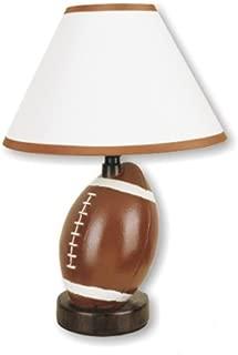 ORE International 604FT-N Ceramic Football Lamp, Brown