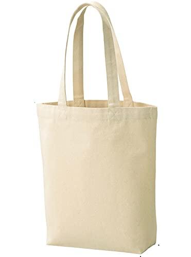 ベーシックスタンダード トートバッグ 帆布 キャンバス 綿 コットン ショルダー 無地 白 厚手 縦長 10オンス A4 マチあり 32×23×8cm(間口31cm) 205010