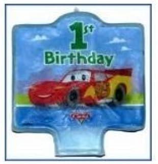 Unique Educational Products - Disney Cars 1st Birthday Candle 1ct - Disney Cars 1st Birthday Candle 1 Count.