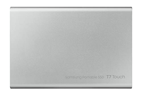 Samsung Memorie T7 Touch MU-PC2T0S SSD Esterno Portatile da 2 TB, USB 3.2 Gen 2, 10 Gbps, Tipo-C, Silver