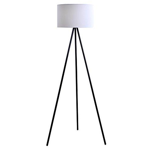 Catalina Lighting 19973-000 Mid-Century Modern Tripod Floor Lamp, 61.25