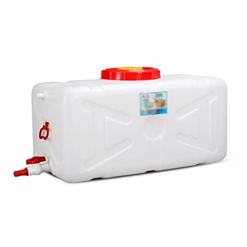 Contenedor de almacenamiento de agua de grado alimenticio para el hogar de gran capacidad, extra grueso, con grifo, tanque de agua de riego cuadrado, antienvejecimiento JNCSX (tamaño: 28 L)