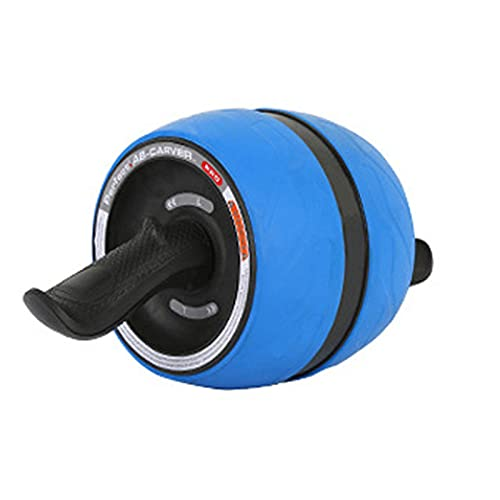 Ab Roller Wheel, Rueda Abdominales Fitness AB Roller Rodillo Rueda Rebote Automático con Rodillera Para Equipo De Ejercicio AB Inferior Entrenamiento Básico De Gimnasio En Casa Mujeres Y Hombres,Azul