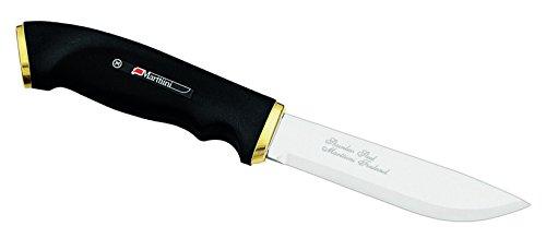 Marttiini Unisex– Erwachsene Messer Jagdmesser Kautschuk-Griff Gesamtlänge: 22.5 cm, grau, M