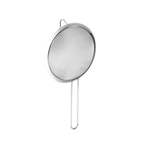 Colador de malla fina de acero inoxidable de alta calidad, multifunción, 18 cm