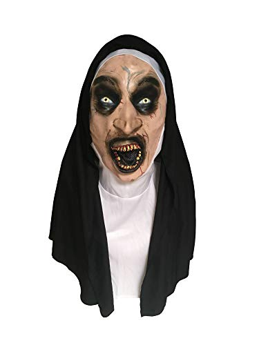 MIMIKRY Latex-Maske Zombie Nonne mit Haube Halloween Horror Kirche Religion Kostüm-Zubehör