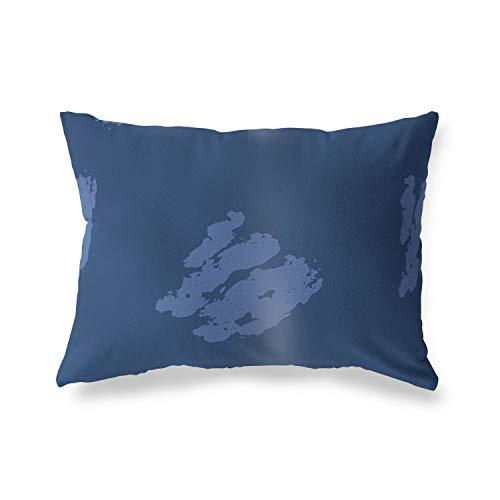 BonaMaison Fundas para Cojínes, Azul Funda de Almohada para Sofá Coche Silla Oficina Cama Decorativa Moderna Decoración del Hogar, 35x50 Cm - Diseñado y Fabricado en Turquía