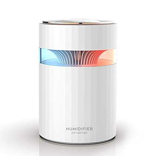 Umidificatore, Unità di umidificazione premium con serbatoio dell'acqua da 900ml, funzionamento Ultrasuoni...